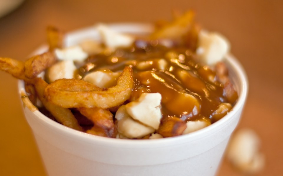 Pountine: french fries, gravy, and cheese curds