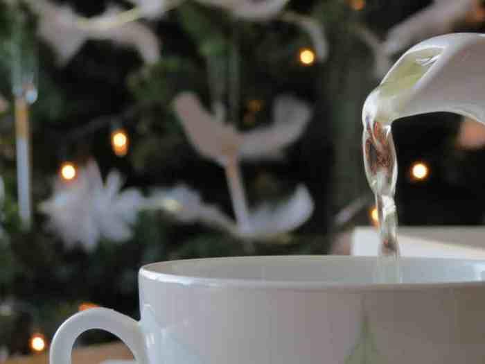 Christmas tea in London