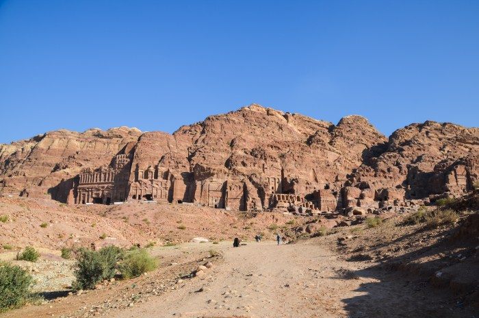 View of the Royal Tombs in Petra, Jordan