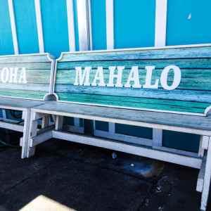 Aloha Mahalo Benches in Hawaii