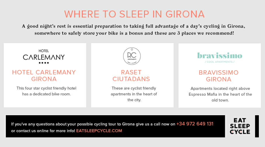 Accommodation for Cyclists in Girona - Eat Sleep Cycle