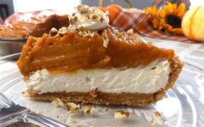 Pumpkin Cheesecake Layer Pie (No Bake)
