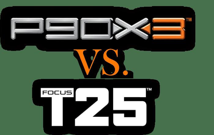 P90X3 vs T25