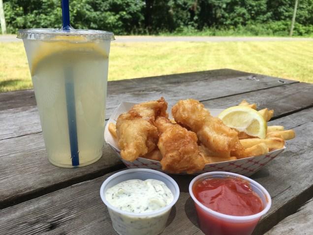 Crispy Fish & Chips with Refreshing Lemonade