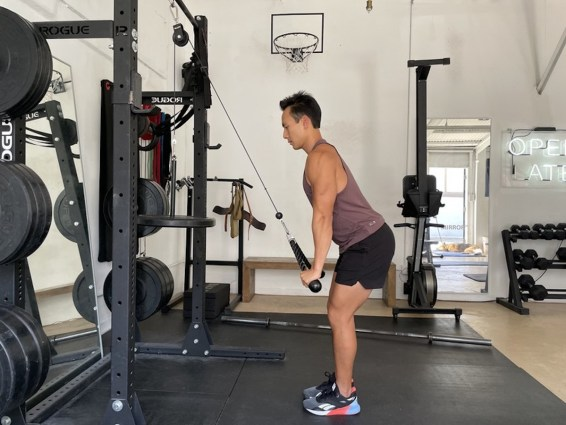 4 cable pulley triceps extensions