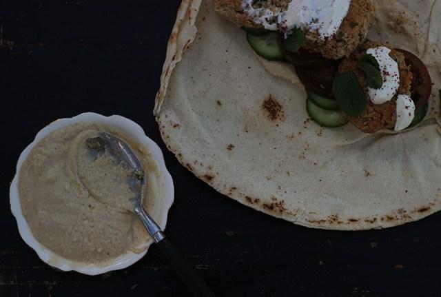 falafels and hummus