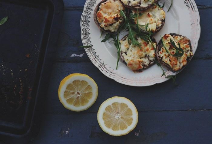 mushrooms plate