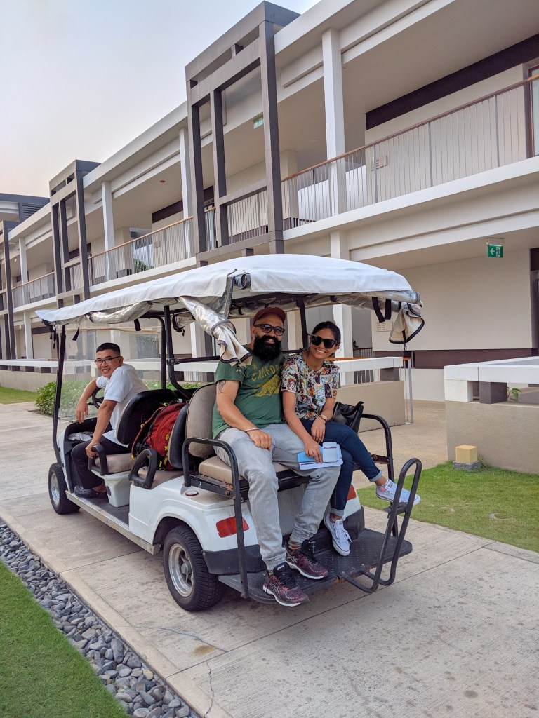 golf cart to the room