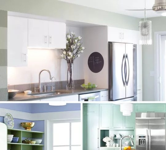 Best Colors for a Small Kitchen — Painting a Small Kitchen ... on Best Small Kitchens  id=94860