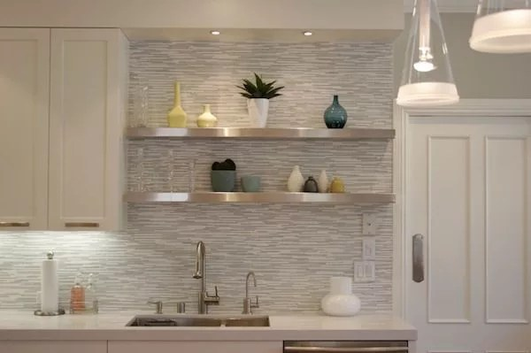 Top 20 Creative Wallpapers Ideas for the Kitchen     Eatwell101 contemporary wallpaper kitchen backsplash image