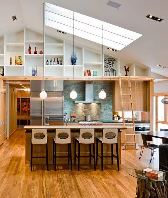 Overhead Kitchen Lighting Ideas: Kitchens With High Ceilings