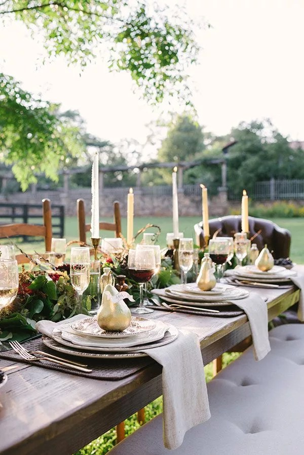 Rustic Refined Fall Tablescapes — Eatwell101 on Backyard Table Decor id=97387