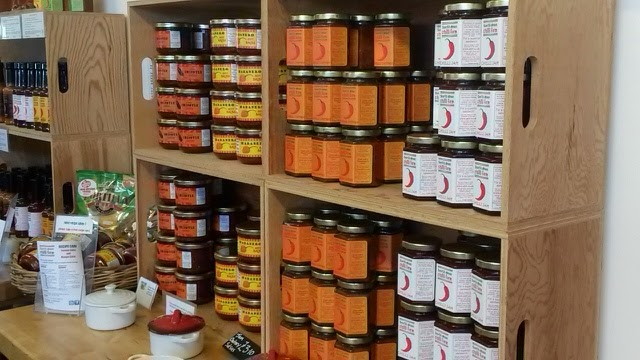 The shop at the South Devon Chilli Farm