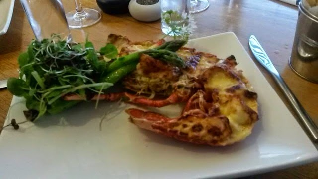 Lobster Thermidor at Dick & Will's in Salcombe, Devon