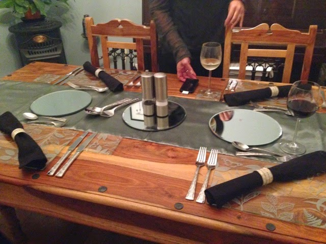 A dinner party table