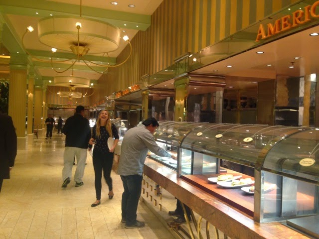 Food as far as the eye can see at a Vegas buffet....
