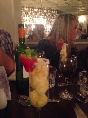 Champagne sorbet at Cafe Vin Cinq, Rugby