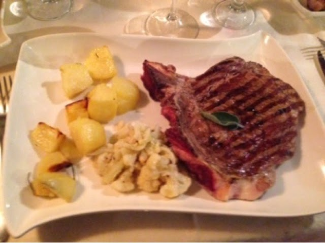T-bone steak at L'Ortiche, Sauze d'Oulx