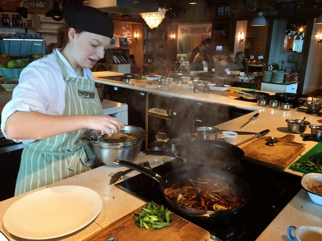 Learning from a pro at Jamie Oliver's Recipease