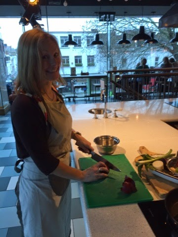 Ellen learns knife skills at Jamie Oliver's Recipease