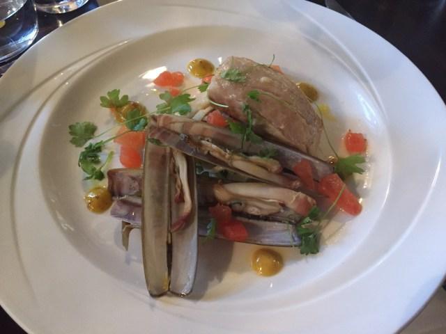 Salt Cod main course at the Wine House, Lichfield