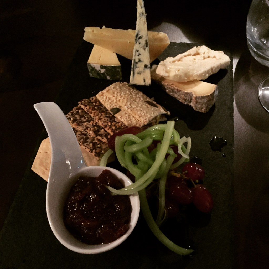 Cheese board at the Wine House, Lichfield
