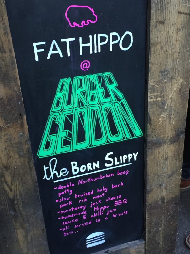 Fat Hippo at Burgergeddon, Digbeth, Birmingham