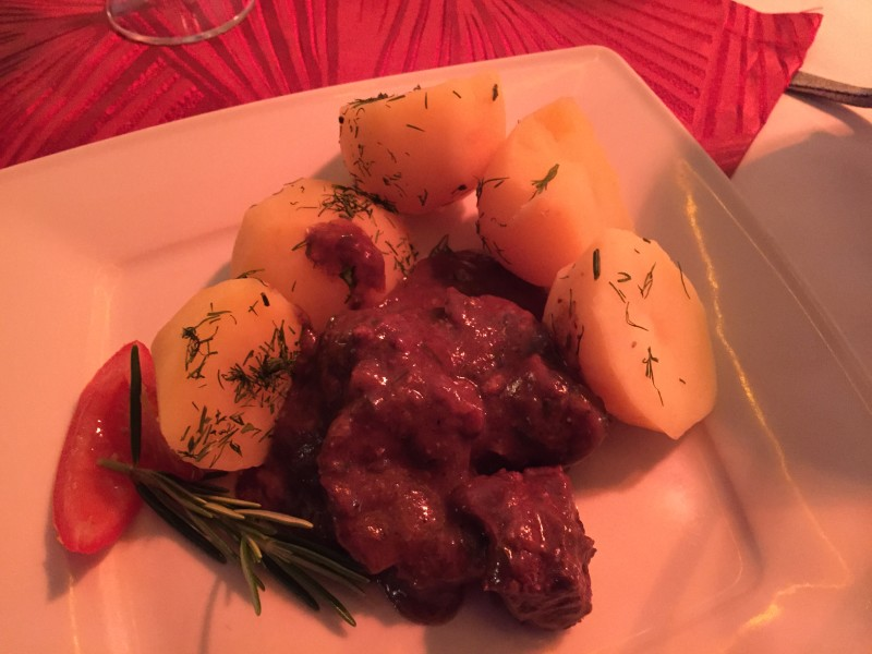 Royal venison goulash in Krakow