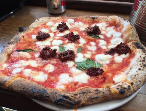 Picture of the Nduja pizza at Pizza Pilgrims