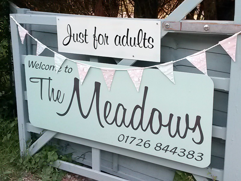 The Meadows Campsite, Pentewan Valley, Cornwall
