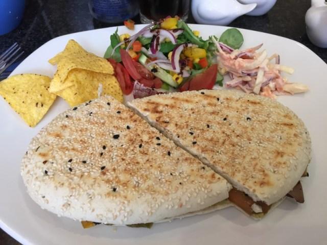 Roasted vegetable panini at Damn Fine Cafe, Llichfield
