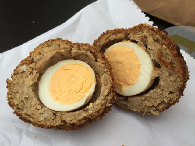 An ace scotch egg at Gloucester Services