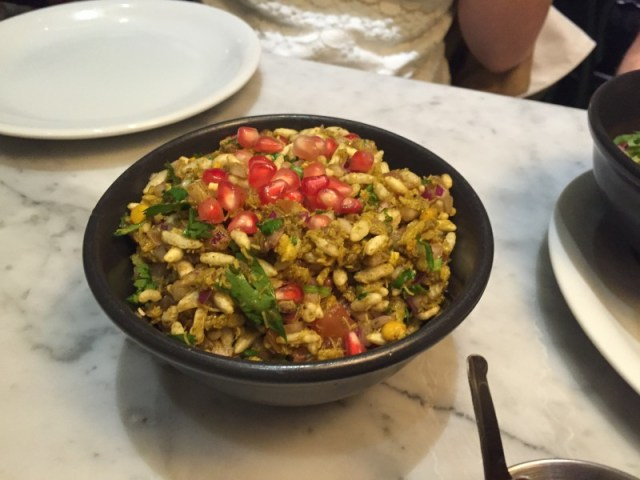 Bhel at Dishoom, King's Cross, London