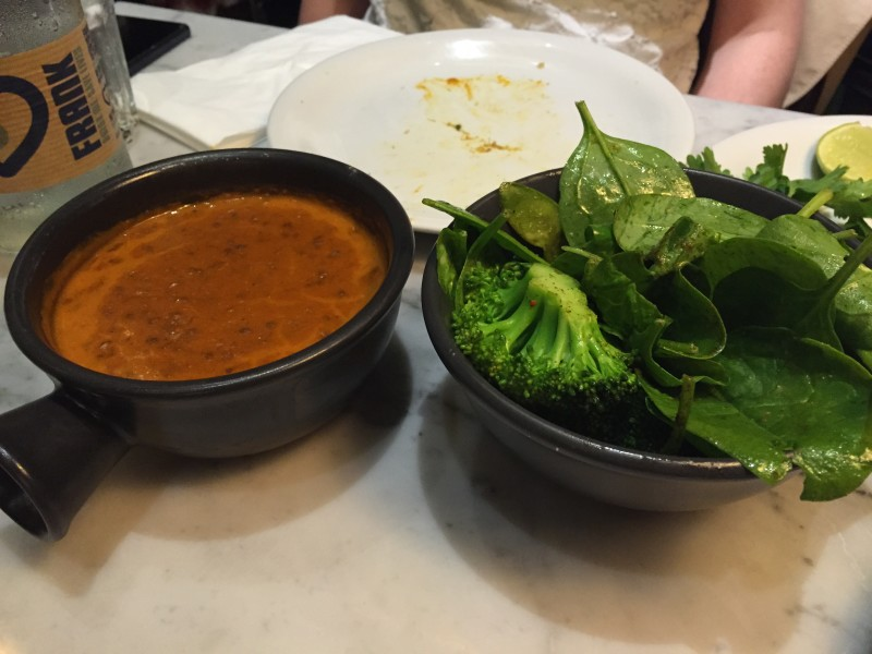 Black House Dhal, and Greens, at Dishoom, King's Cross, London