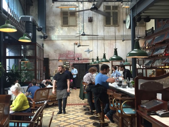 The impressive interior of Dishoom, Kings Cross, London