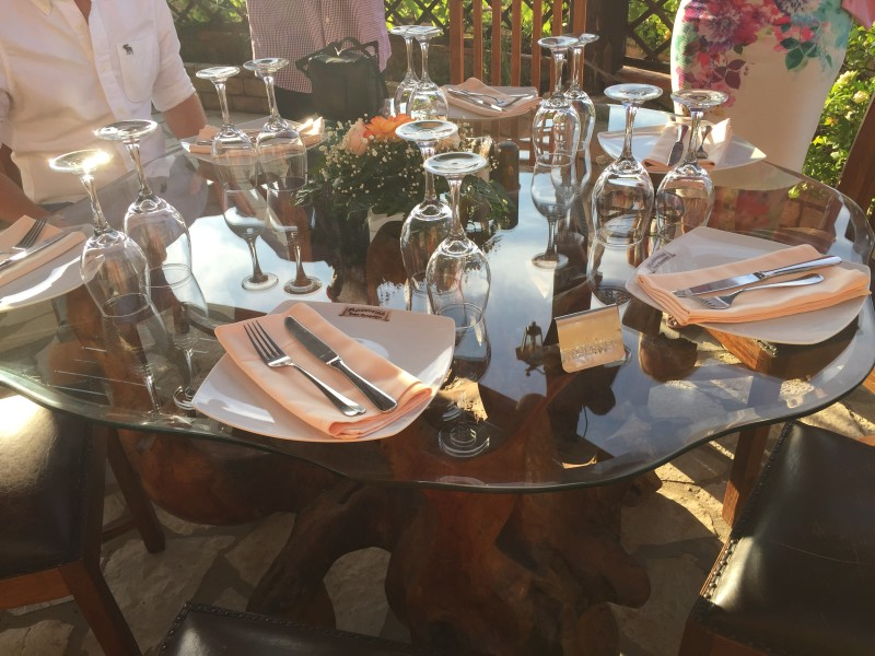 The beautiful table at Archontiko, Corfu