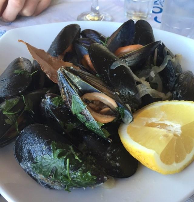 Mussels at Boukari Beach, Corfu