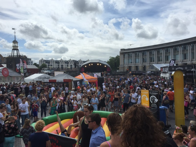 The crowds at Grillstock festival, Bristol