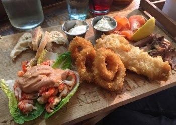 Fishmongers platter at Pom's, Lichfield