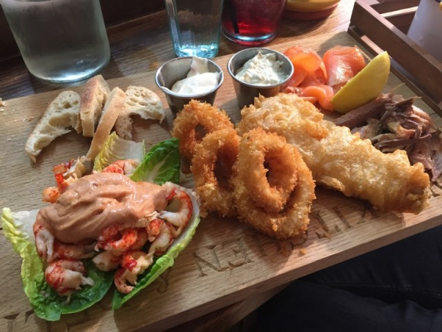 A fishmongers platter at Pom's, Lichfield