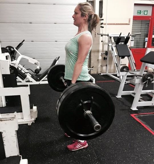 Ellen in the gym