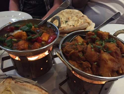 Main courses at Milan Indian Cuisine, Birmingham