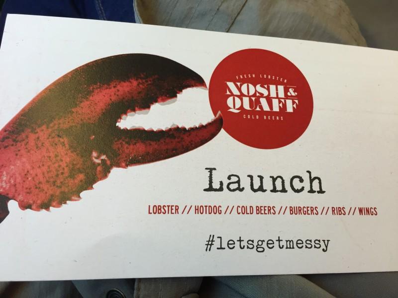 Launch night at Nosh & Quaff