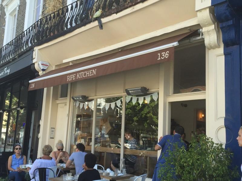 The exterior of Ripe Kitchen, Primrose Hill, London