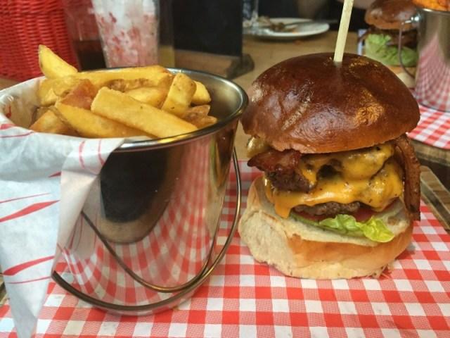 Bacon Cheese burger at the Rose Villa Tavern, Birmingham