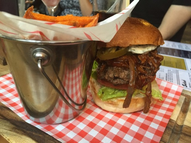 The 'American Meat' burger at the Rose Villa Tavern, Birmingham