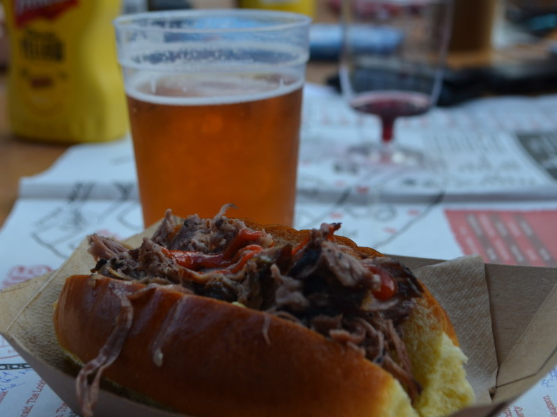 Beer and brisket at Meatopia