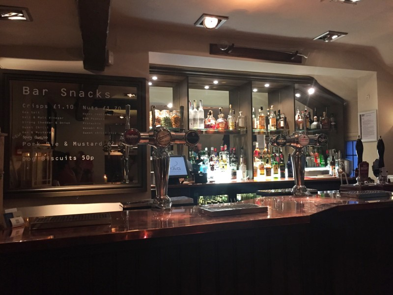 The bar at the Stag at Offchurch