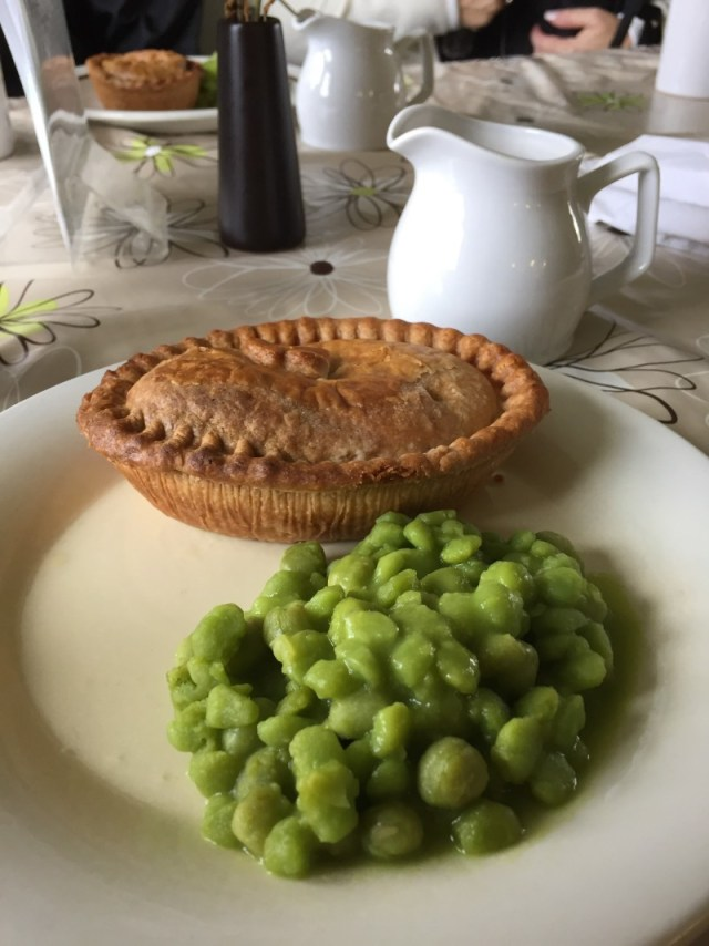 Pie and peas at Teversal Visitor Centre