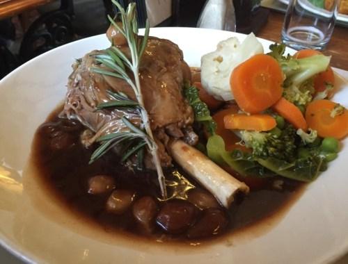 Lamb shank at the Hardwick Inn